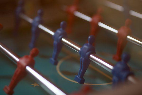 Spieleraum mit Tischfußballtisch