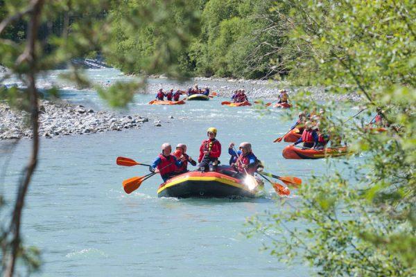 Rafting im Lechtal